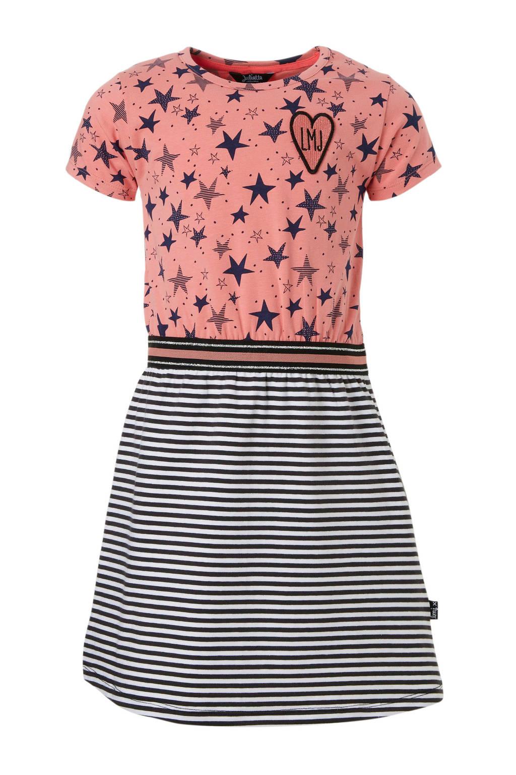 5f9b940648be36 Little Miss Juliette jurk met strepen en sterren