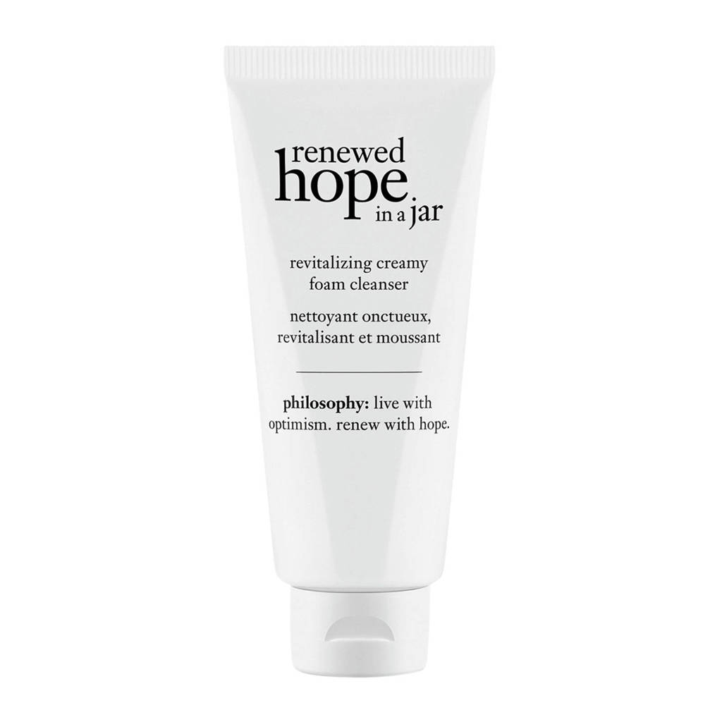 philosophy renewed hope in a jar revitalizing creamy foam gezichtsreiniger - 150 ml