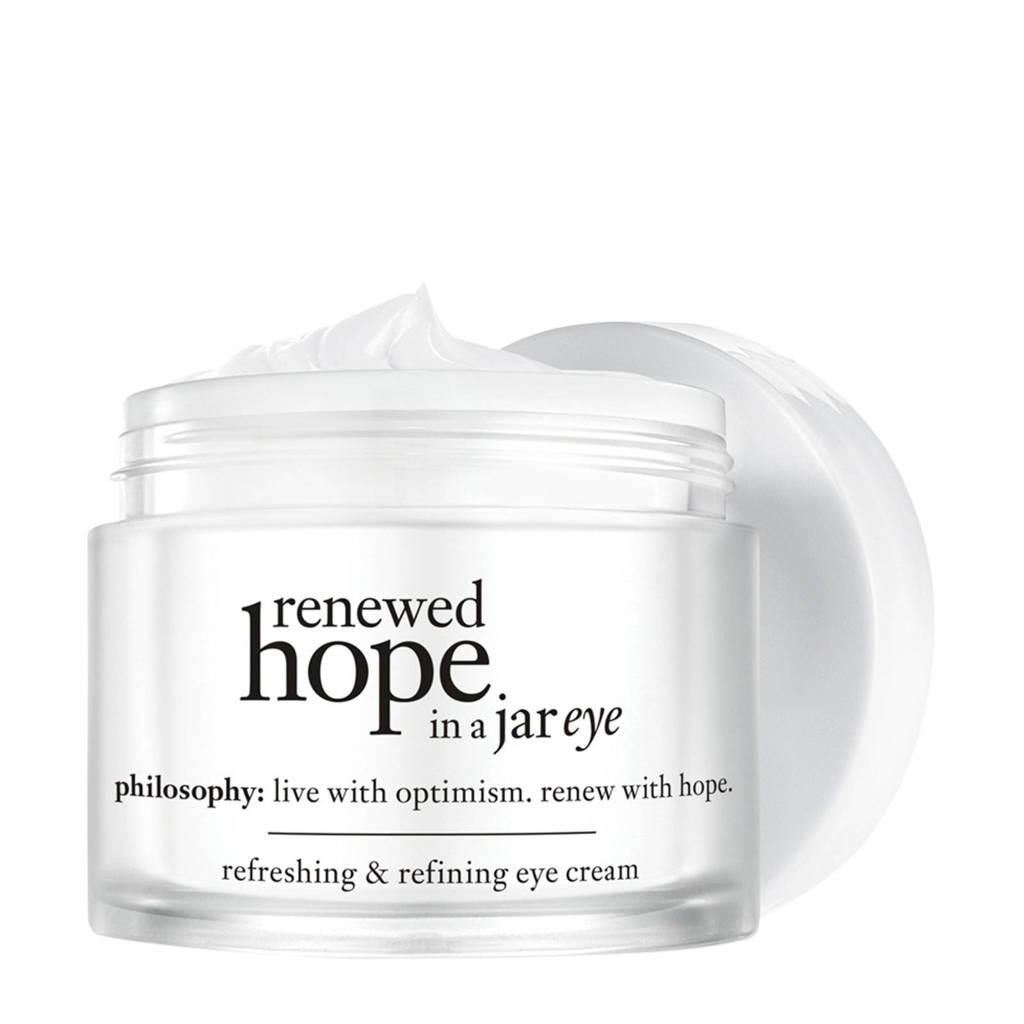 philosophy renewed hope in a jar refreshing & refining oogcrème - 15 ml
