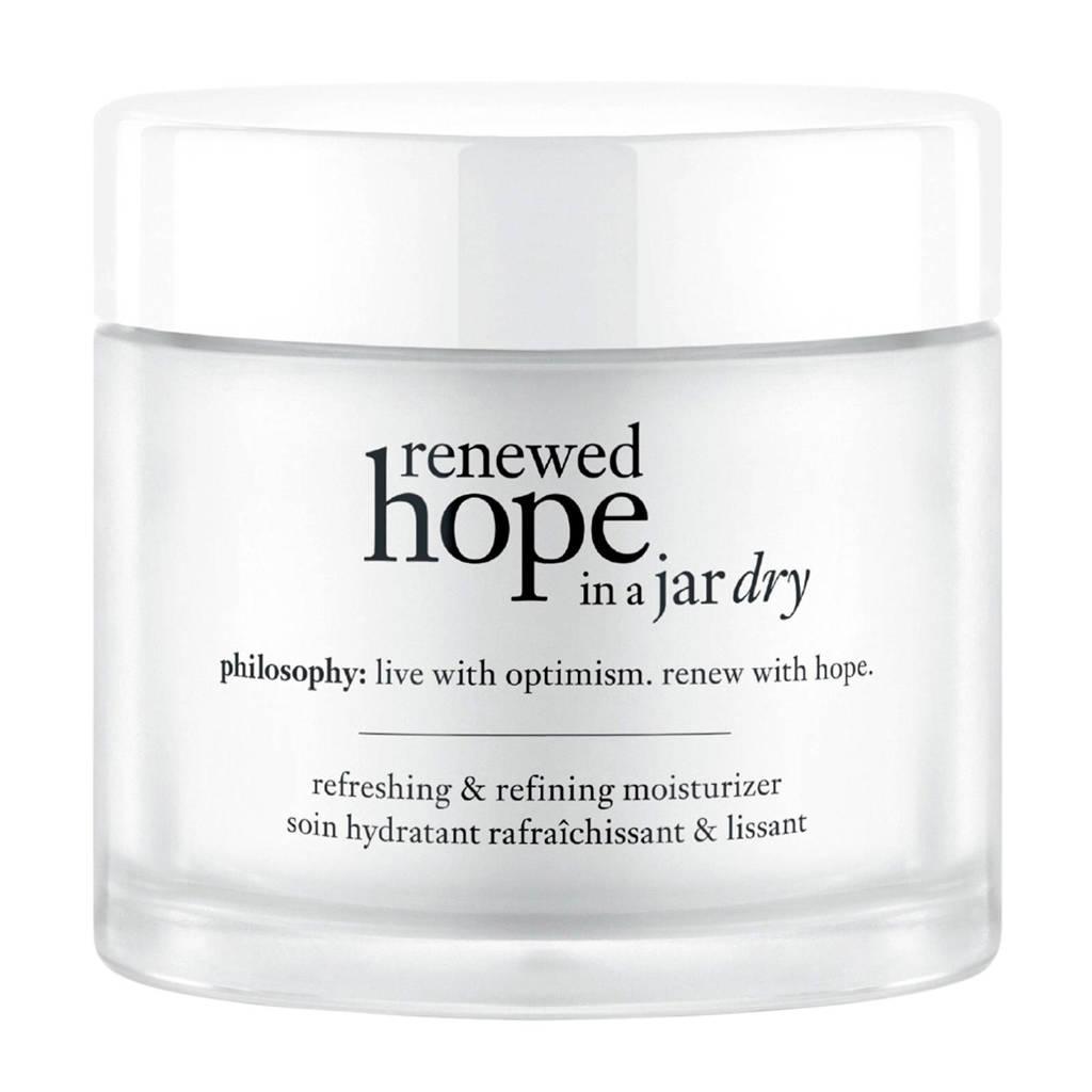 philosophy renewed hope in a jar refreshing & refinining moisturizer dry skin - 60 ml