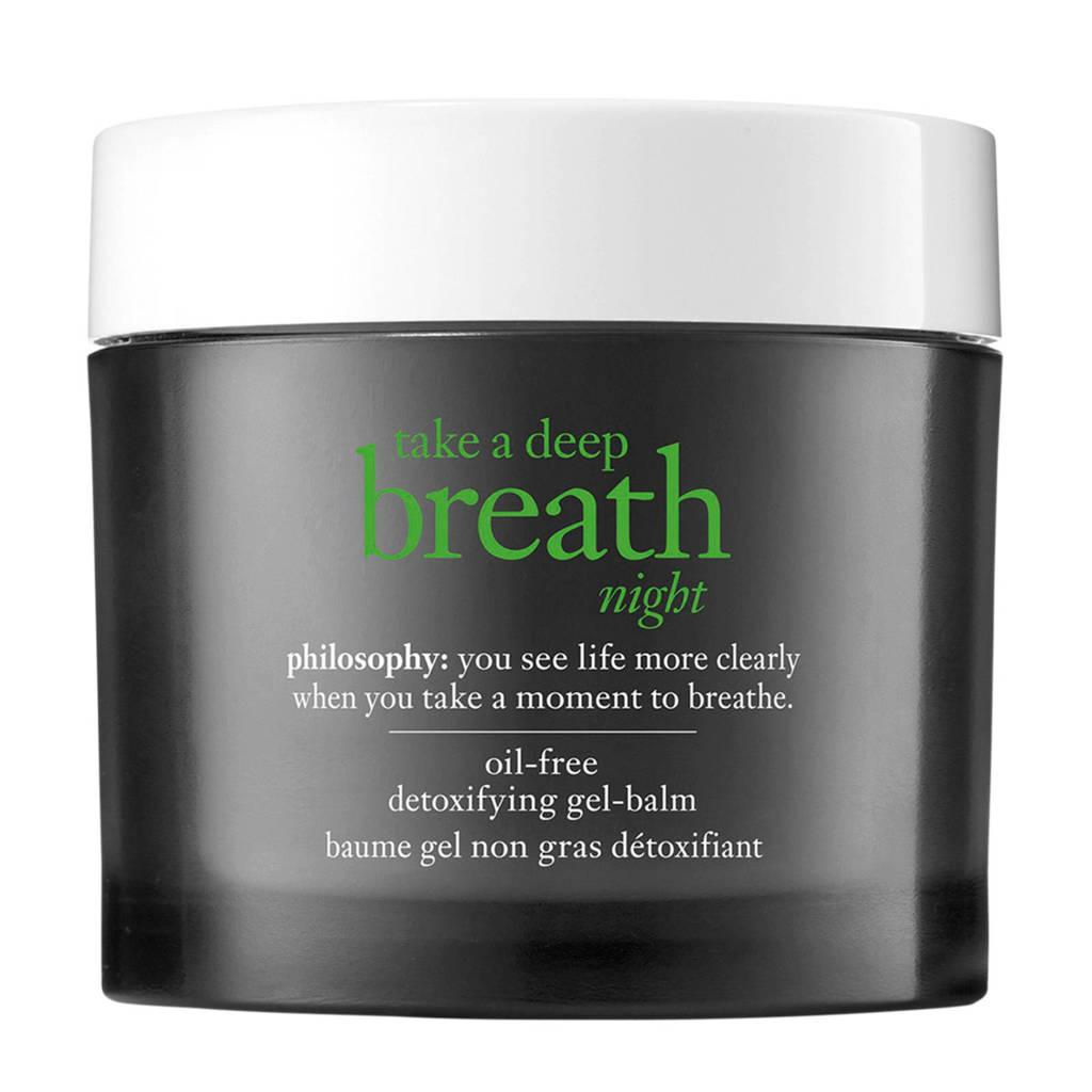 philosophy take a deep breath nachtcrème - 60 ml