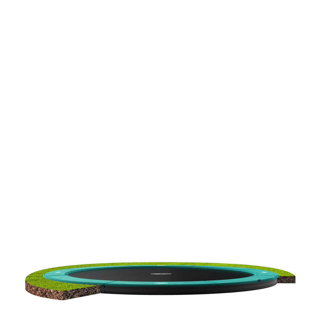BERG Champion Flatground trampoline Ø380 cm, Groen