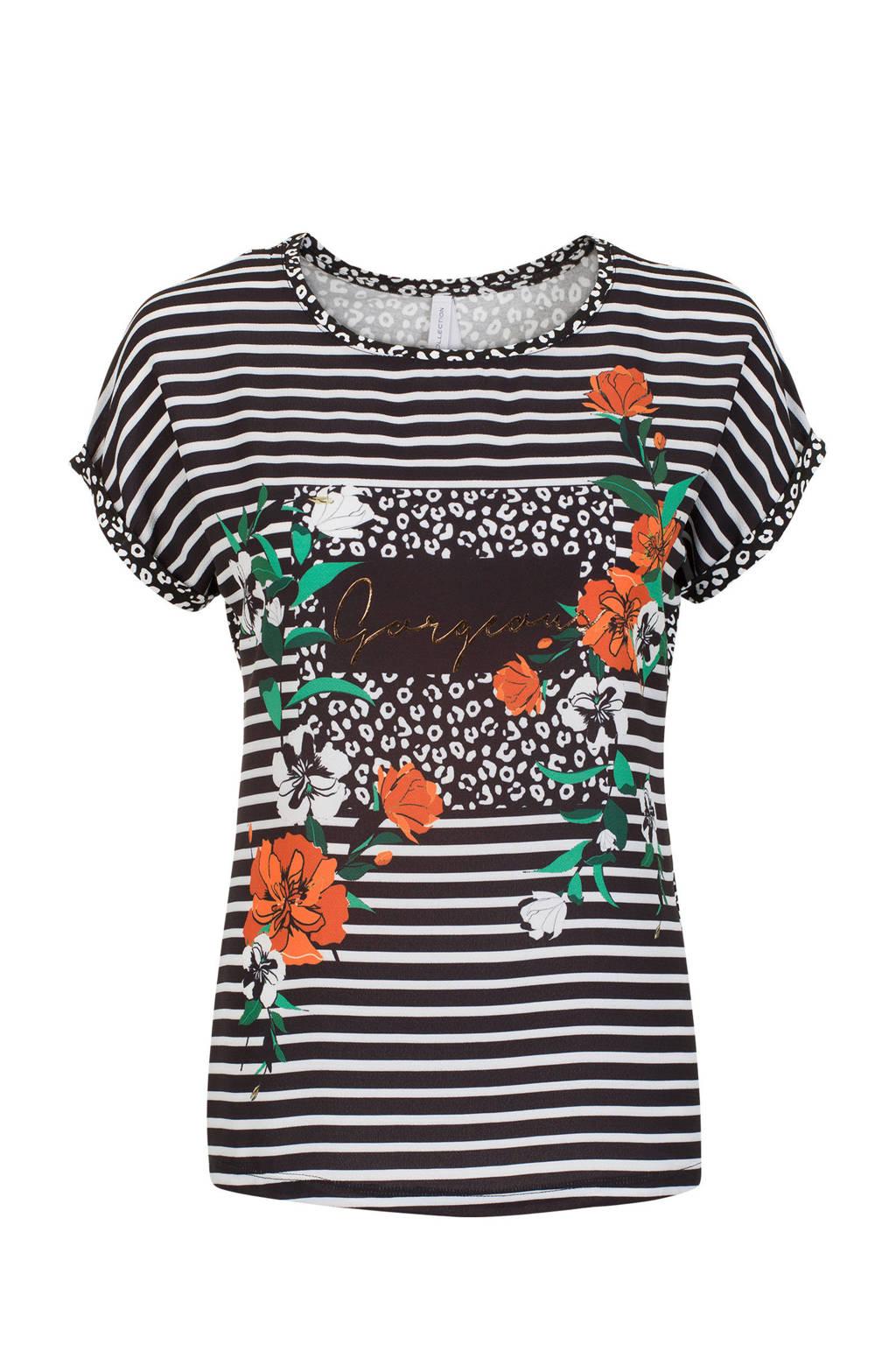 shirt Etamregulier T Zwart Miss Gestreept tnB7wHw48q