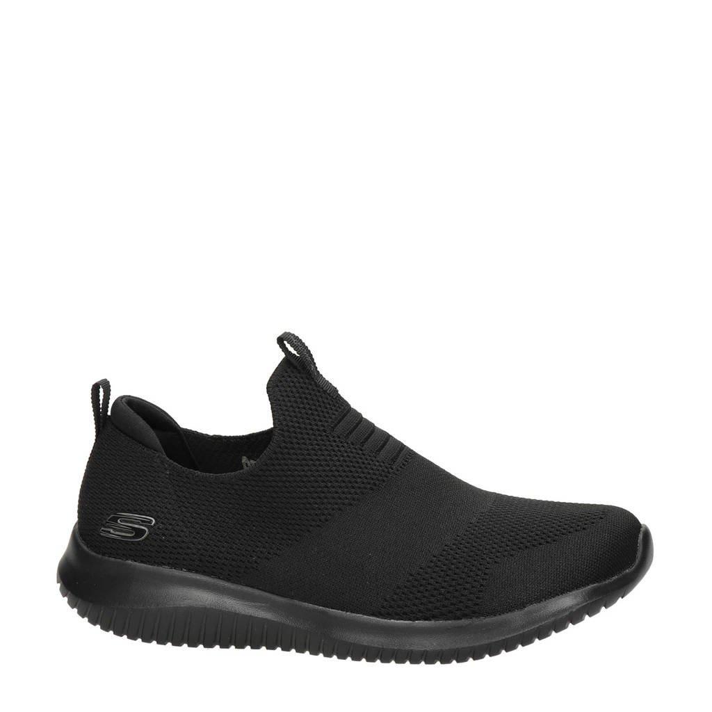 Skechers   SN 12837 sneakers zwart, Zwart