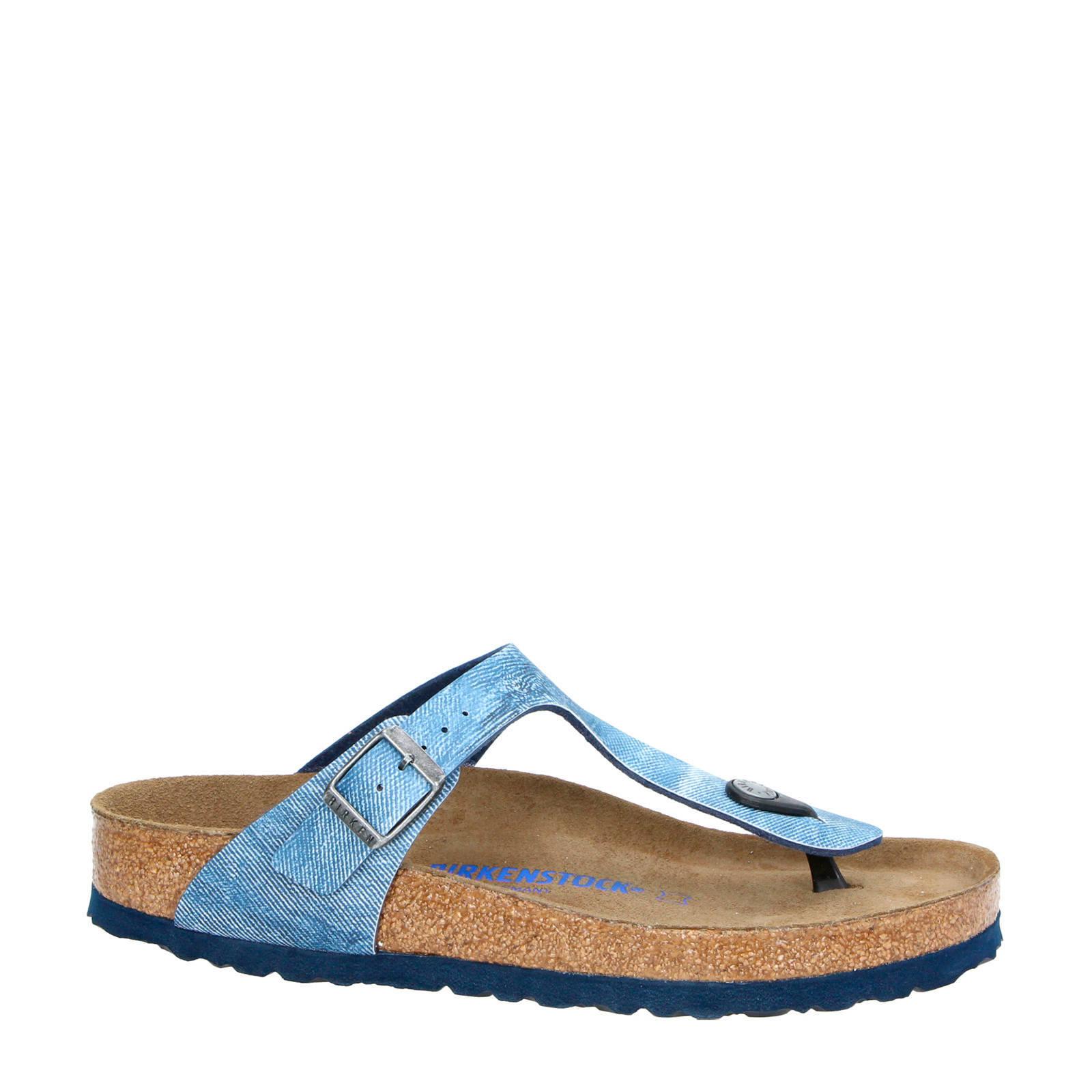 Birkenstock Gizeh teenslippers blauw | wehkamp