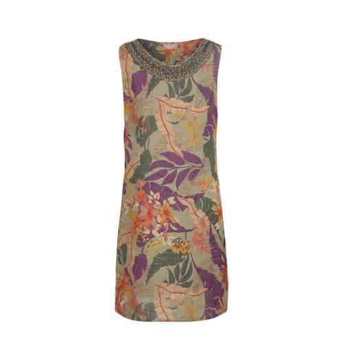 2c35ac6310b599 Cassis linnen jurk met kraaltjes