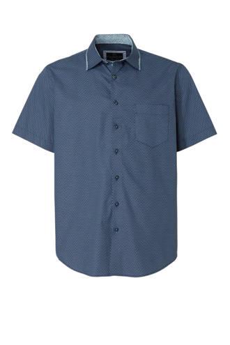 overhemd met ruit dessin marine