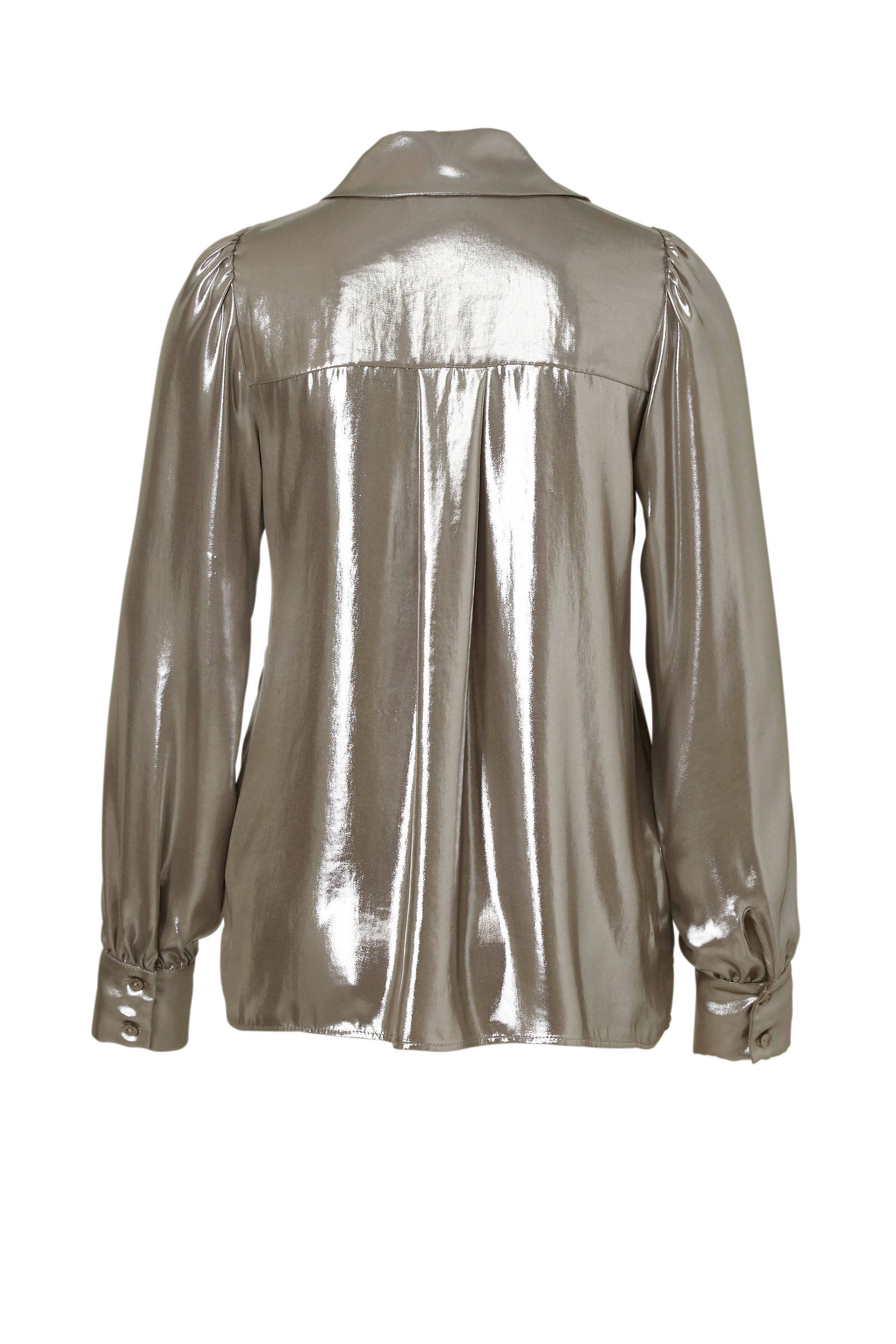 C blouse glanzende Yessica A zilver Bq6RrBfzwA