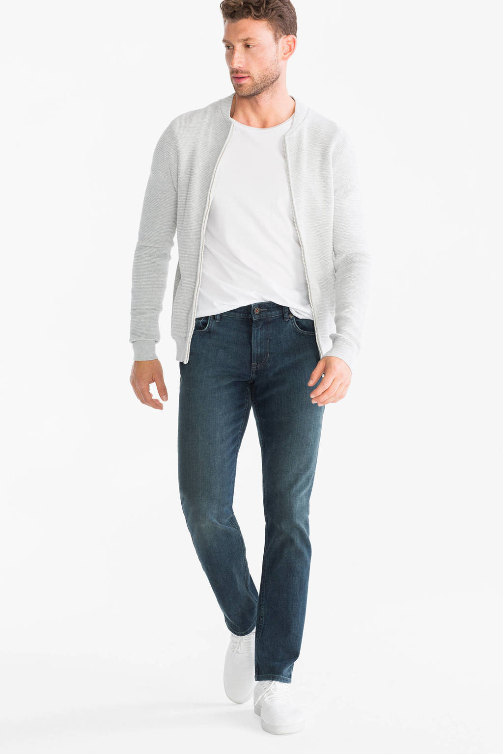 C&A The Denim straight fit jeans, Blauw