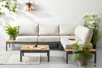 Exotan all weather loungeset Villa, Zwart/naturel/grijs