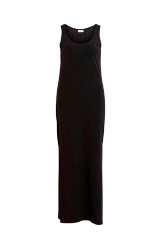 mouwloze maxi jurk zwart
