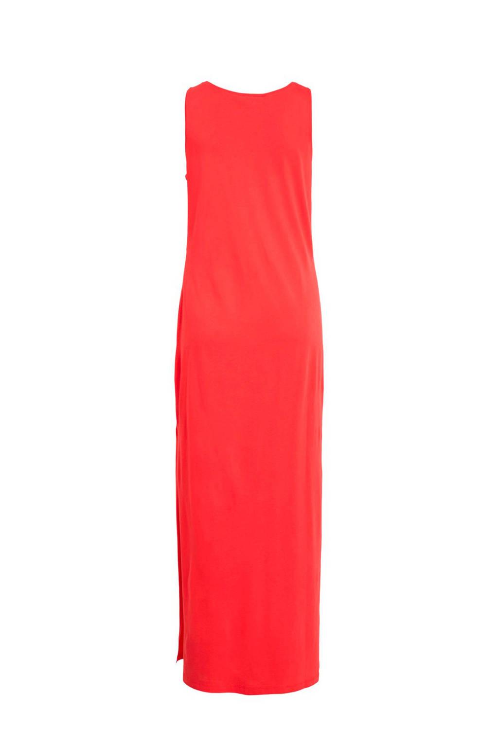 d4ba5a10316e71 VILA mouwloze maxi jurk rood