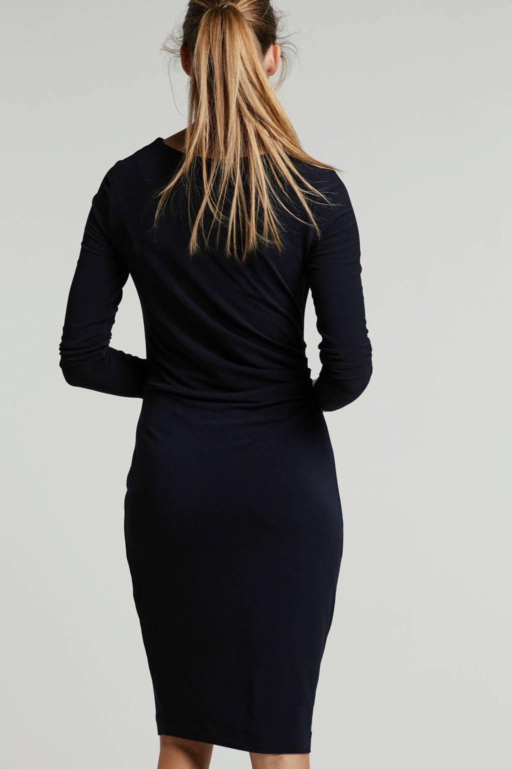 Inwear jurk met geplooide details donkerblauw, Donkerblauw