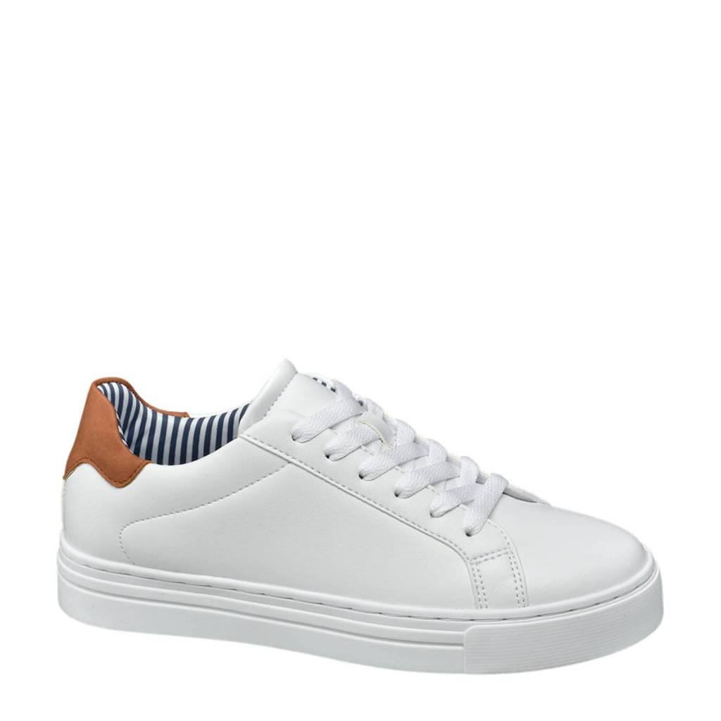 Graceland   sneakers wit, Wit/bruin