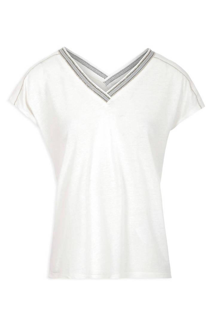 ecru lurex shirt met Morgan T WwqI0vF7U