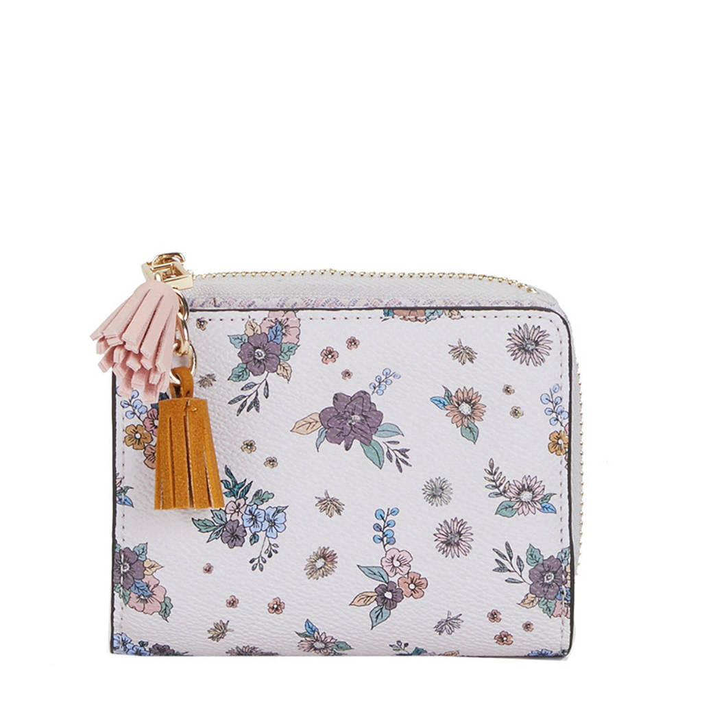 Parfois gebloemde portemonnee roze, Roze