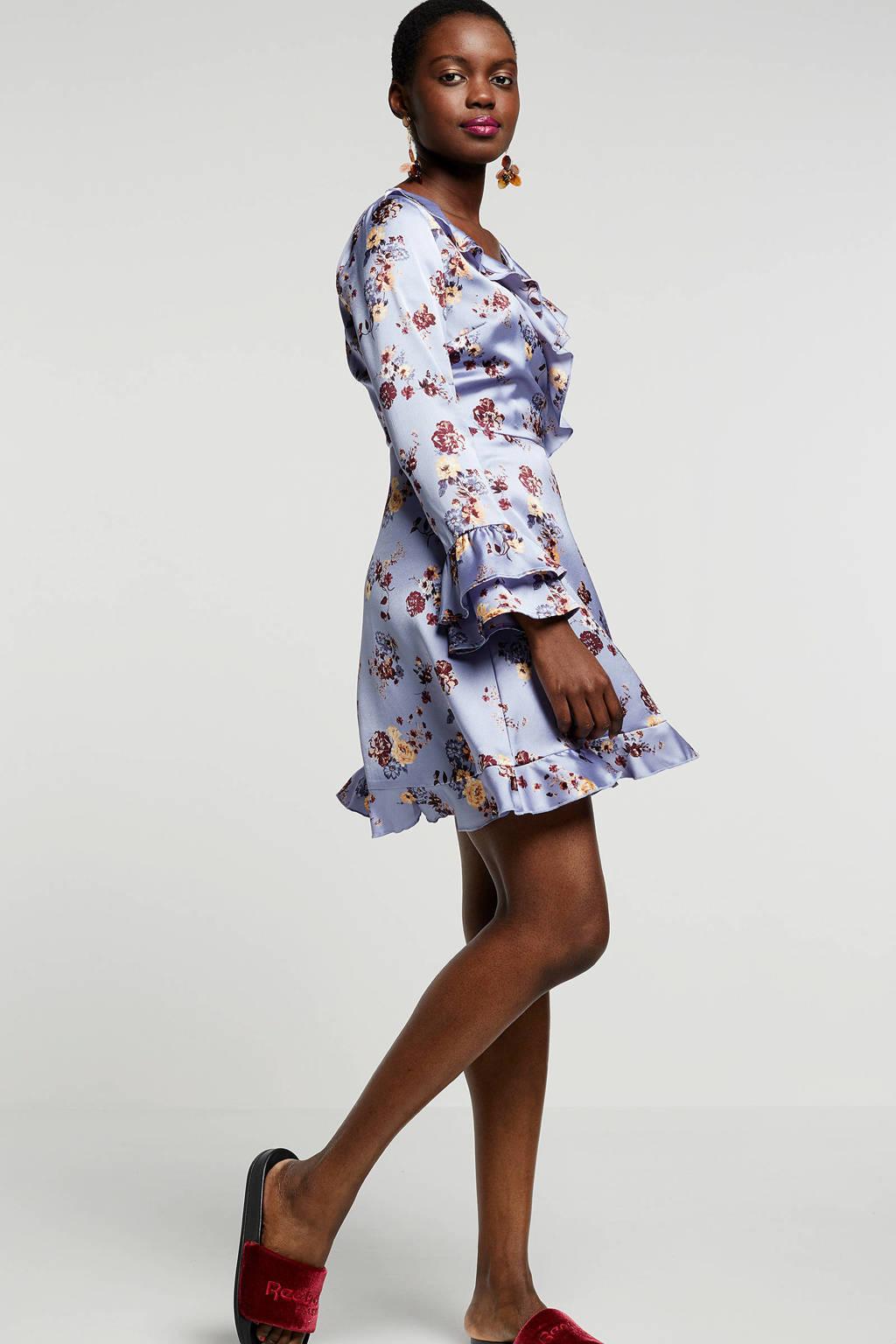 Even&Odd jurk met bloemenprint, Blauw