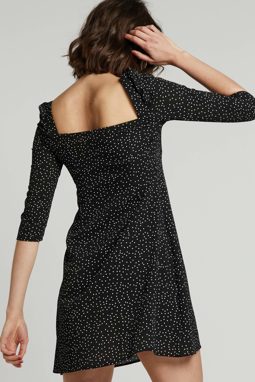 Even&Odd jurk met stippen zwart | wehkamp