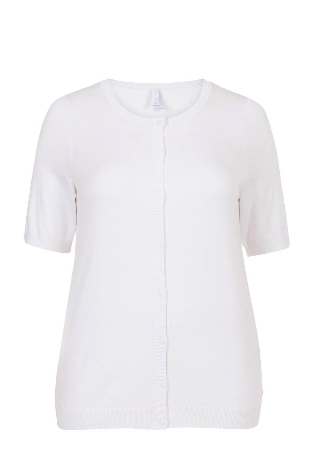 Miss Etam Plus vest wit, Wit