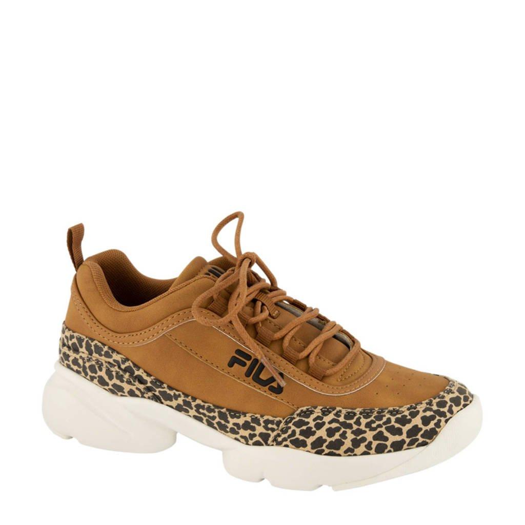 Fila   chunky sneakers panterprint, Bruin