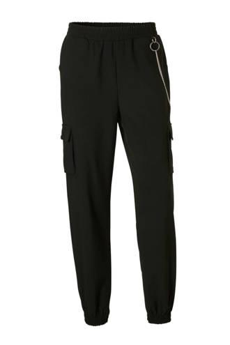 Clockhouse broek met kettingdetail zwart