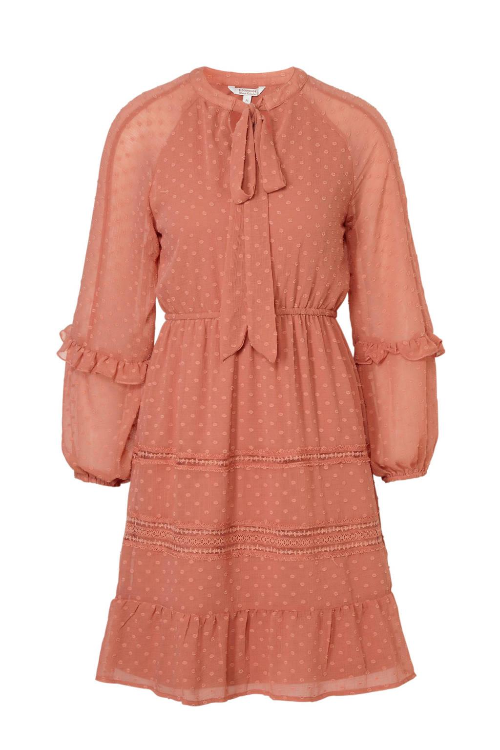 C&A Clockhouse voile jurk oudroze, Oudroze