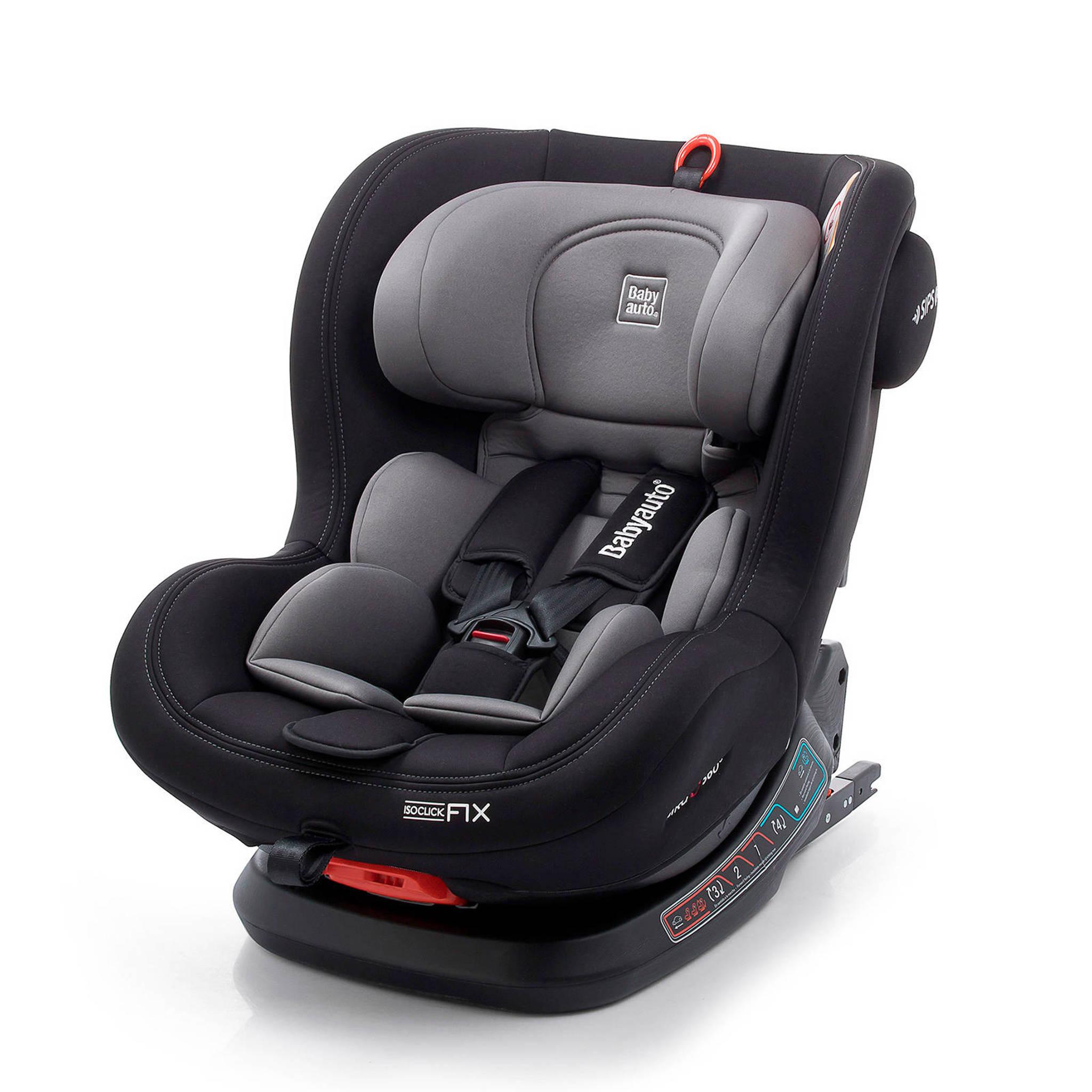 Kinderstoel Auto 6 Jaar.Biro Fix Autostoel Zwart Grijs
