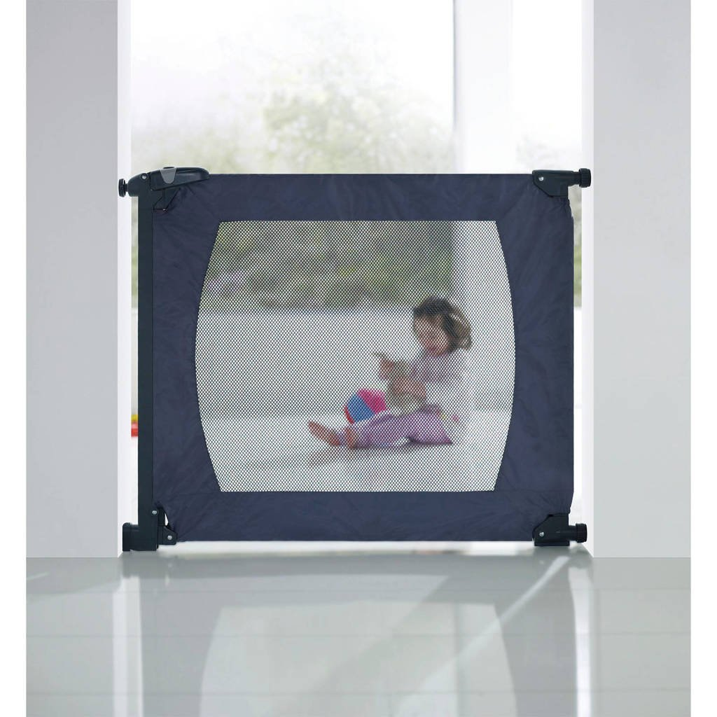 Munchkin Flexiquard draagbaar veiligheidshek, Donkerblauw