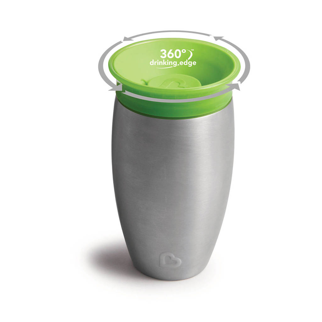 Munchkin Miracle 360° Sippy Cup roestvrij staal 296 ml groen, Groen