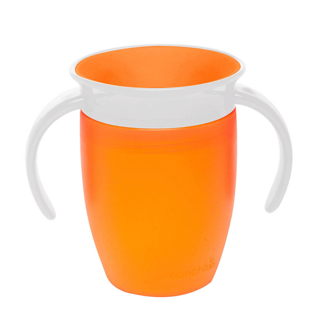 Munchkin Miracle Trainer 360° drinkbeker 207 ml oranje, Oranje