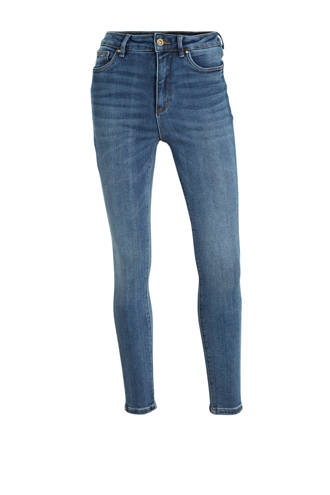 cropped high waist skinny jeans