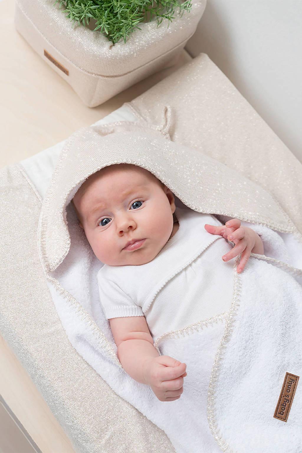 Baby's Only badcape 75x85 Sparkle ivoor/goud, Ivoor/goud