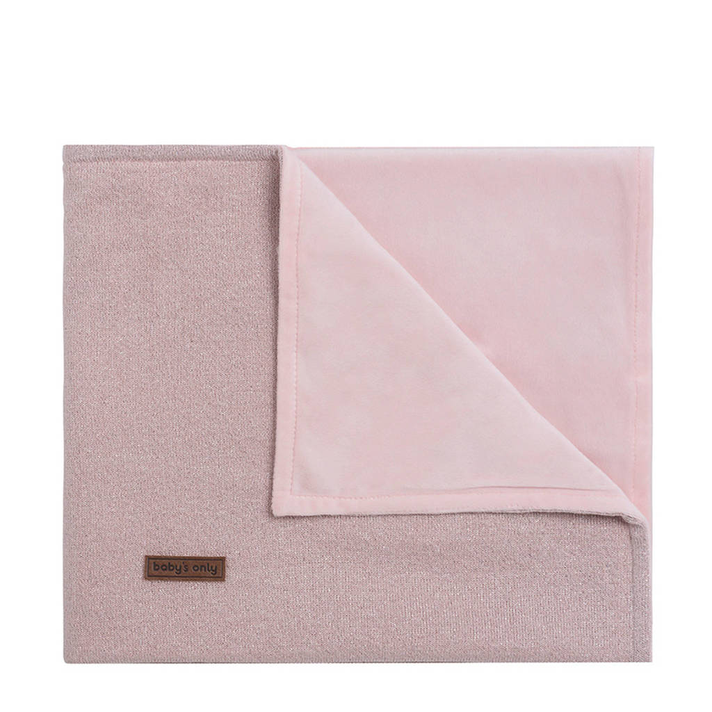Baby's Only Sparkle ledikantdeken soft zilver-roze mêlee, Zilver-roze mêlee