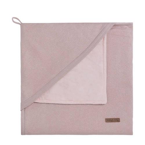 Baby's Only Sparkle omslagdoek soft 82x82 cm zilver-roze mêlee kopen