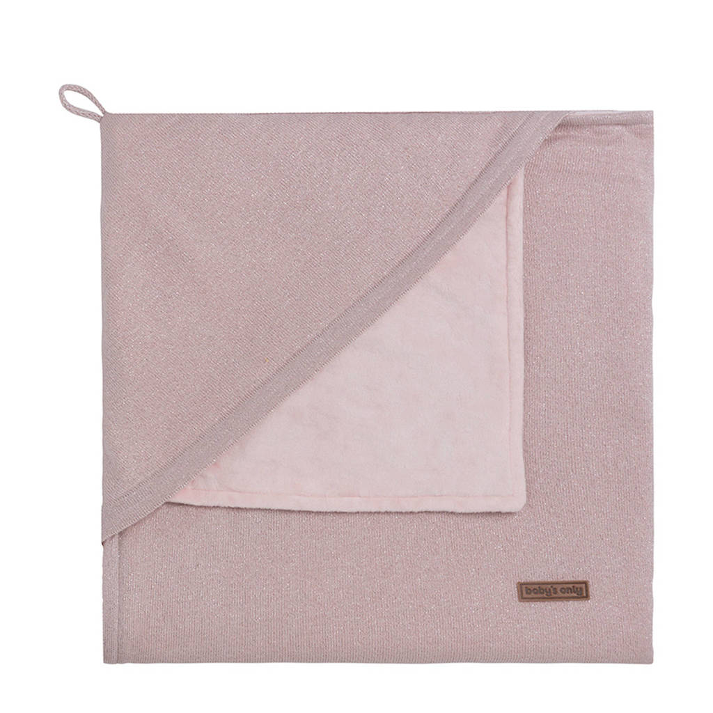 Baby's Only Sparkle omslagdoek soft 82x82 cm zilver-roze mêlee, Zilver-roze mêlee
