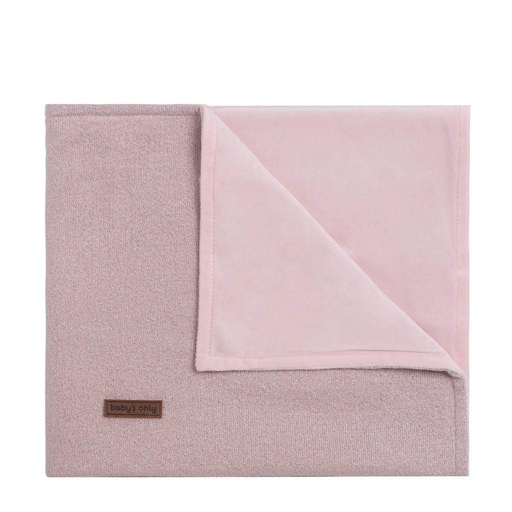 Baby's Only Sparkle baby wiegdeken 70x100 cm zilver-roze mêlee, Zilver-roze mêlee