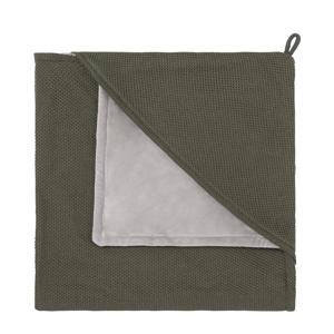 Classic omslagdoek soft 75x75 cm khaki