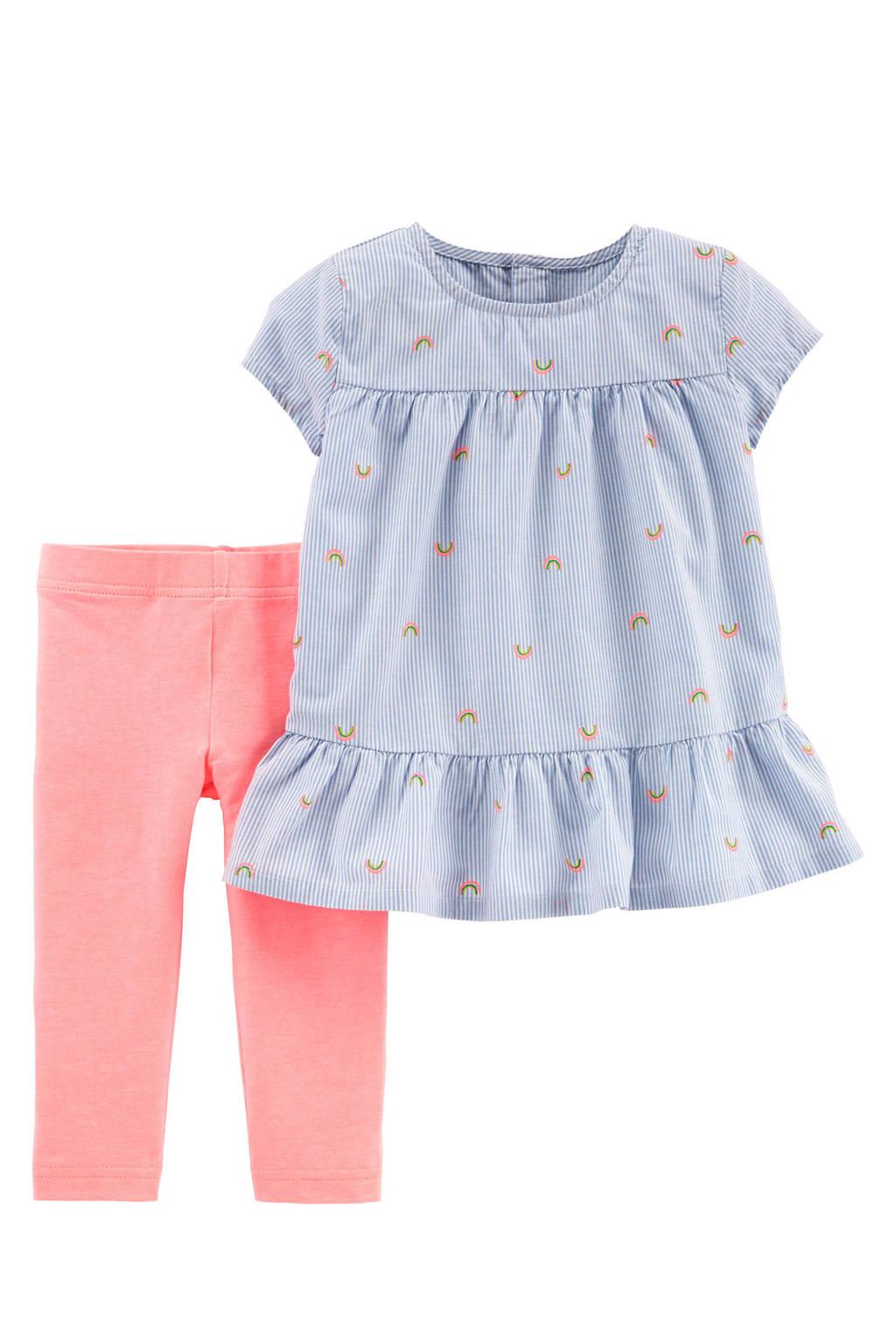 Carter's tuniek + legging, Blauw/roze