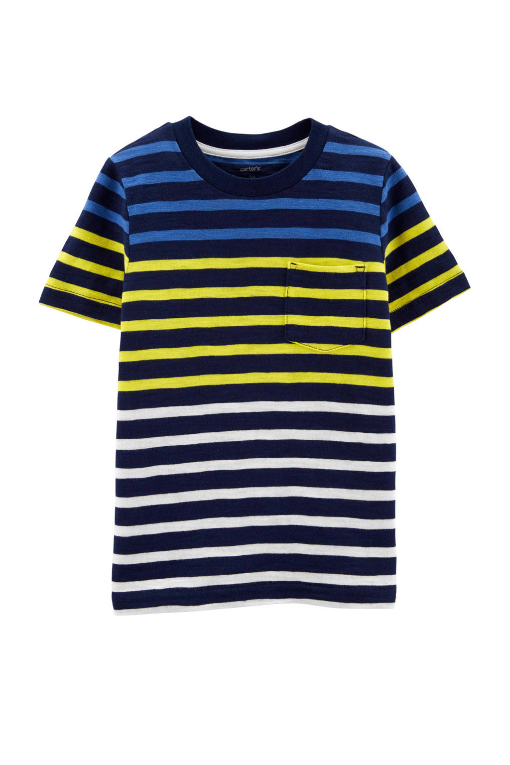 Carter's baby gestreept T-shirt donkerblauw, Donkerblauw