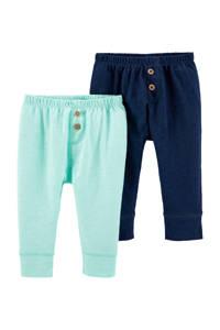 Carter's baby broek mintgroen/donkerblauw, Mintgroen/donkerblauw