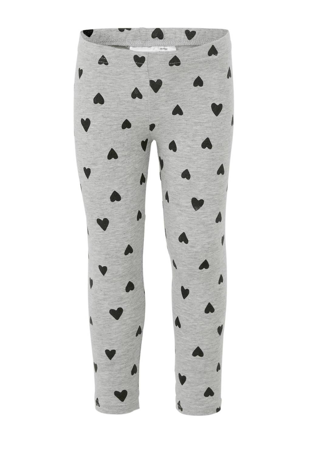 Carter's legging met hartjes grijs/zwart, Grijs/zwart
