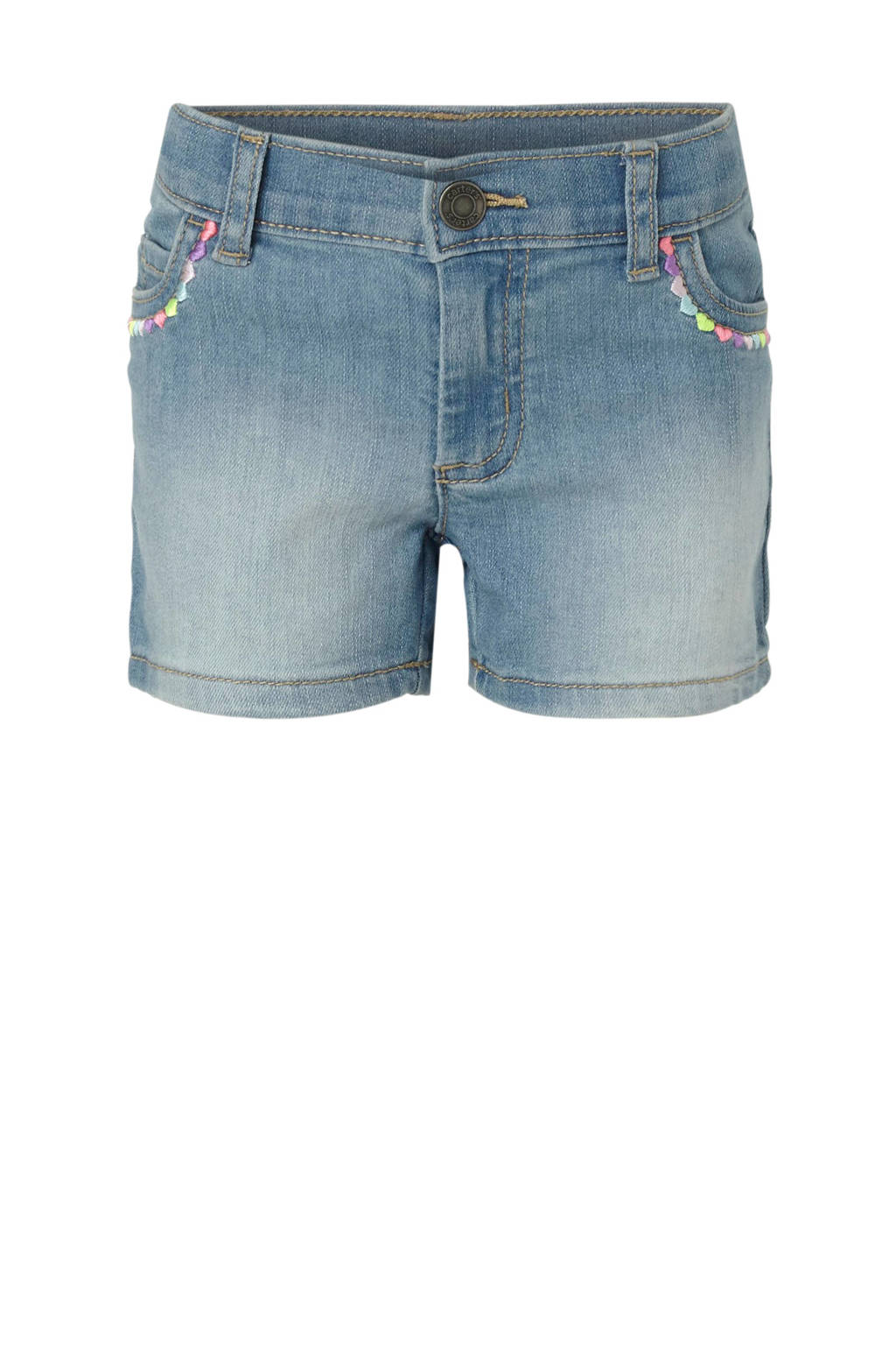 Carter's jeans short met borduursels, Stonewashed
