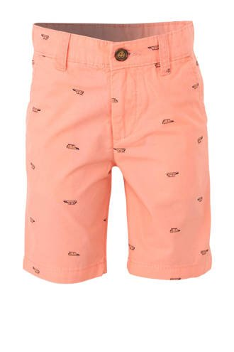 short met all over print zalm