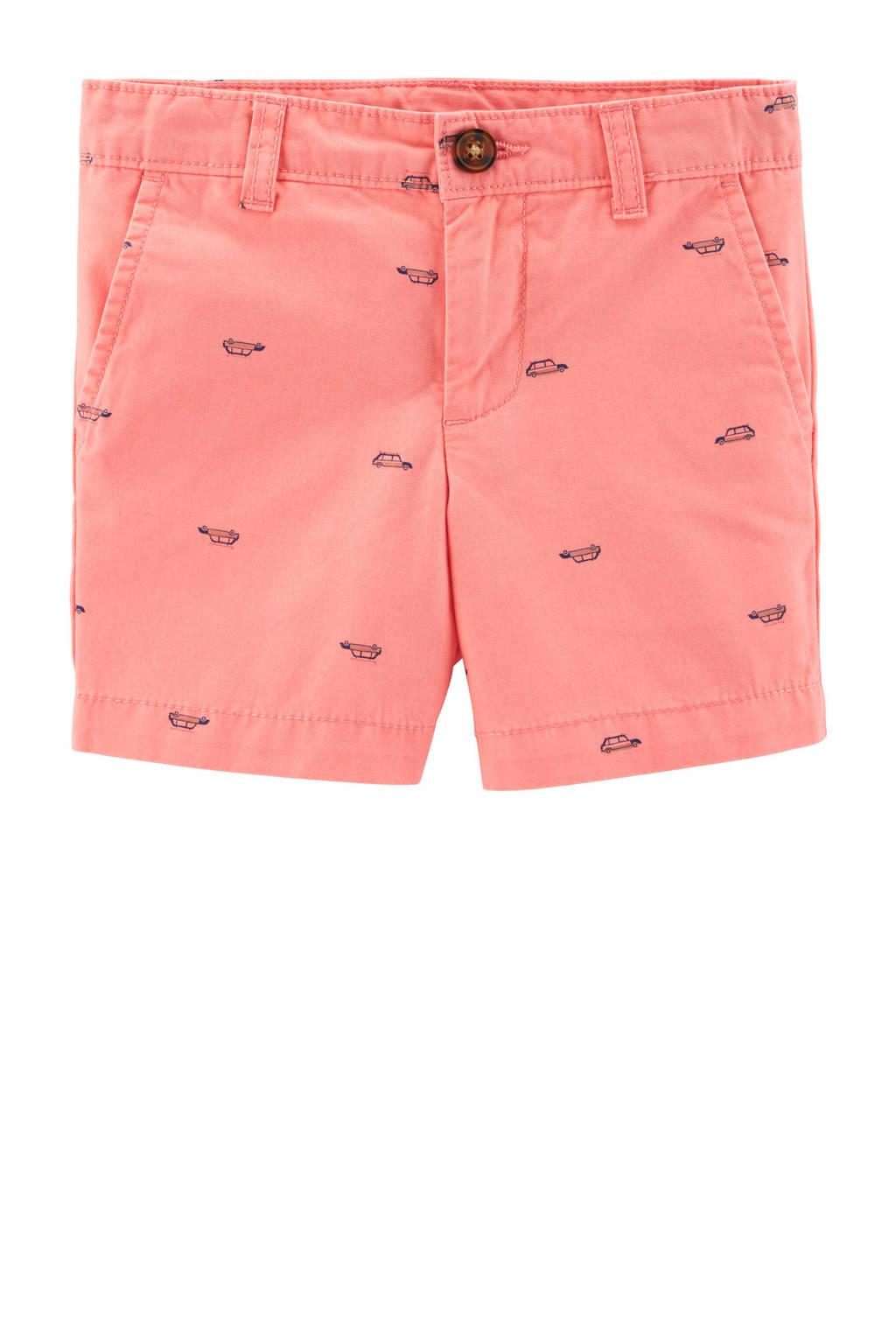 Carter's baby short met all over print roze, Roze