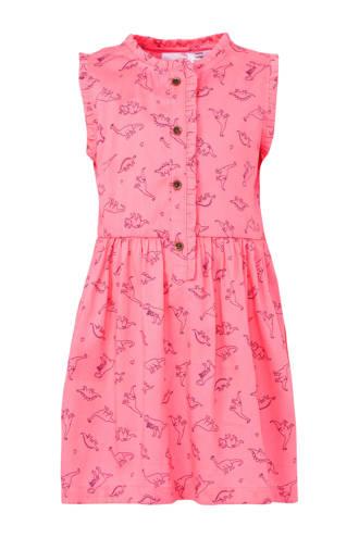 jurk met dino's roze