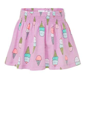 rok met ijsjes lila