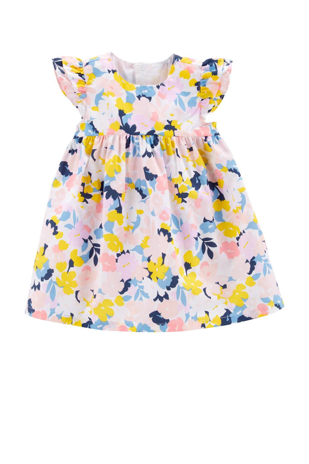 Carter's baby gebloemde jurk, Lichtroze/blauw/geel