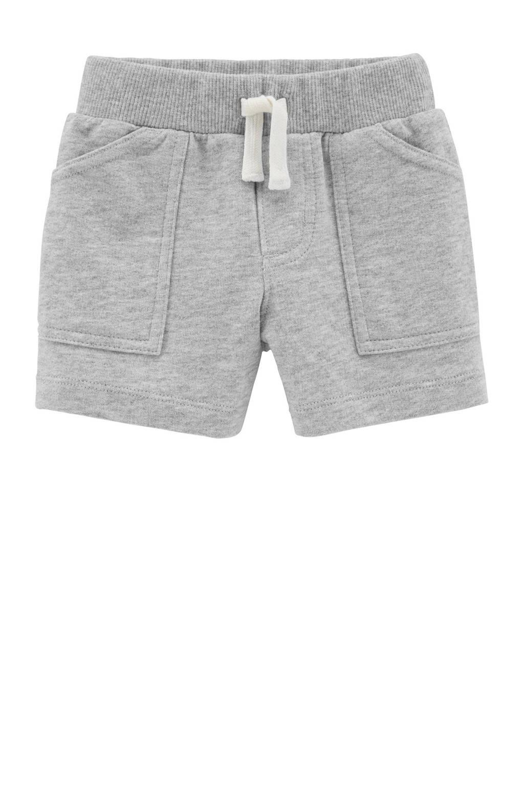 Carter's baby sweatshort grijs melange, Grijs melange
