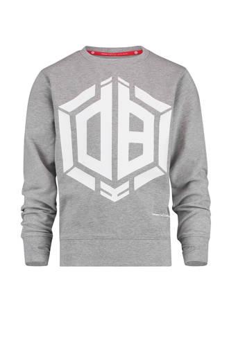 sweater Nino met logo van Daley Blind grijs melange