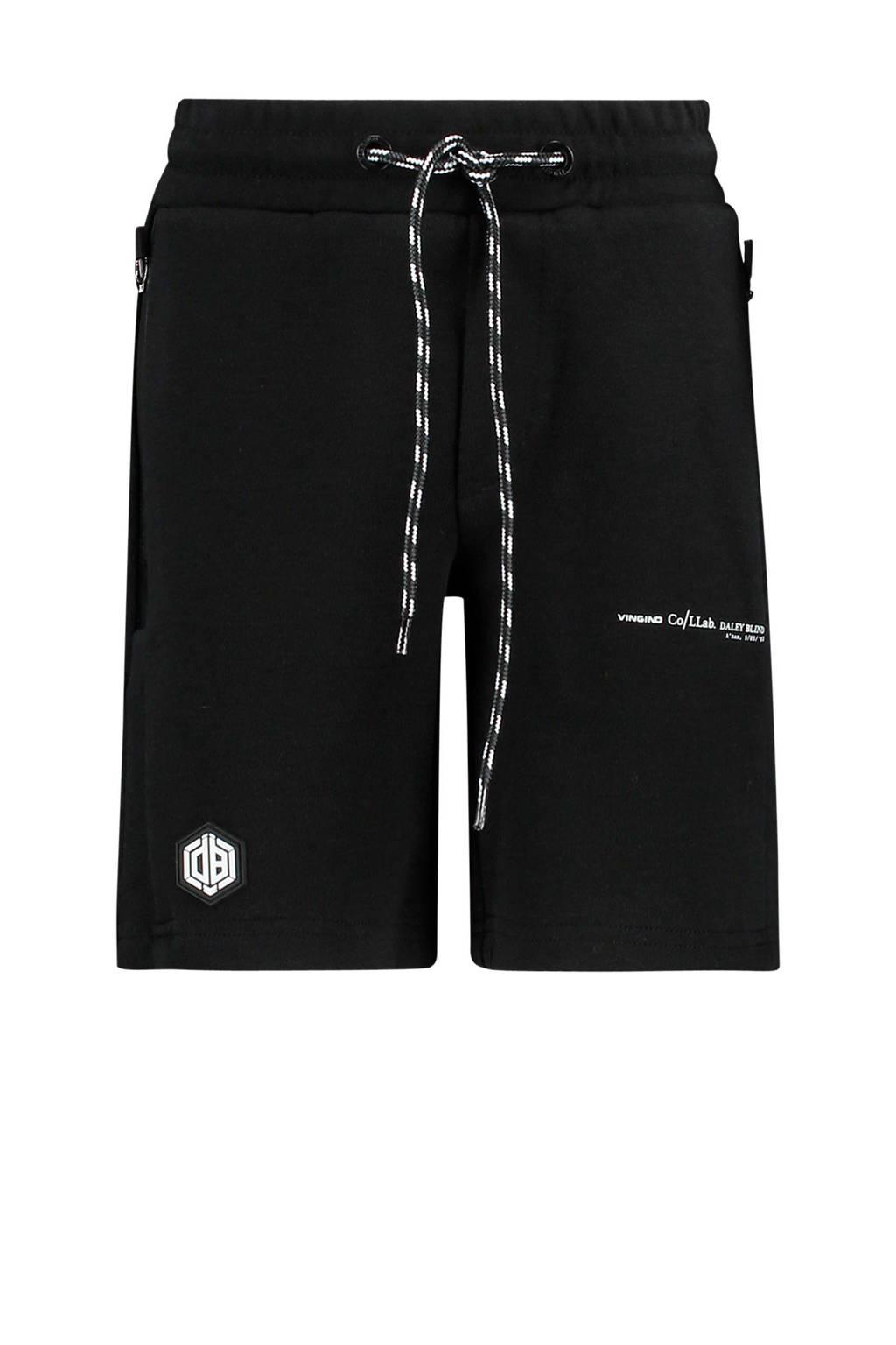 Vingino sweatshort Reggiani van Daley Blind zwart, Zwart